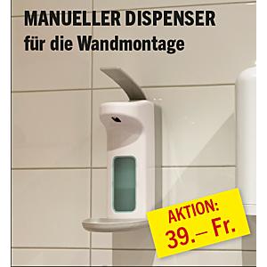 Manueller Dispenser für Hände-Desinfektionsmittel