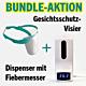 BUNDLE-AKTION: Gesichtsschutz-Visier und automatischer Dispenser mit integriertem Fiebermesser