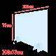 Plexiglas Schutzscheiben-Set 100 x 75 cm ohne Aussparung. Dient als Spuckschutz um die Verbreitung von Viren und Bakterien einzudämmen.