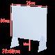 Plexiglas Schutzscheiben-Set 75 x 60 cm. Schützt Mitarbeiter von einer möglichen Ansteckung mit Viren und Bakterien.